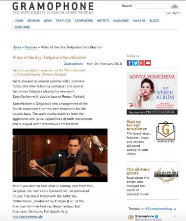 Gelgotas Sanctifaction Gramophone Magazine