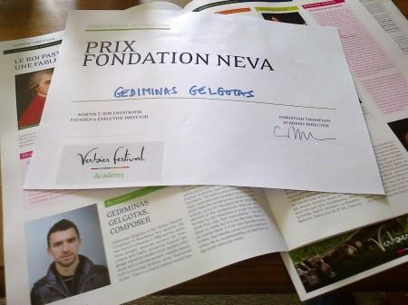 Prix foundation Neva